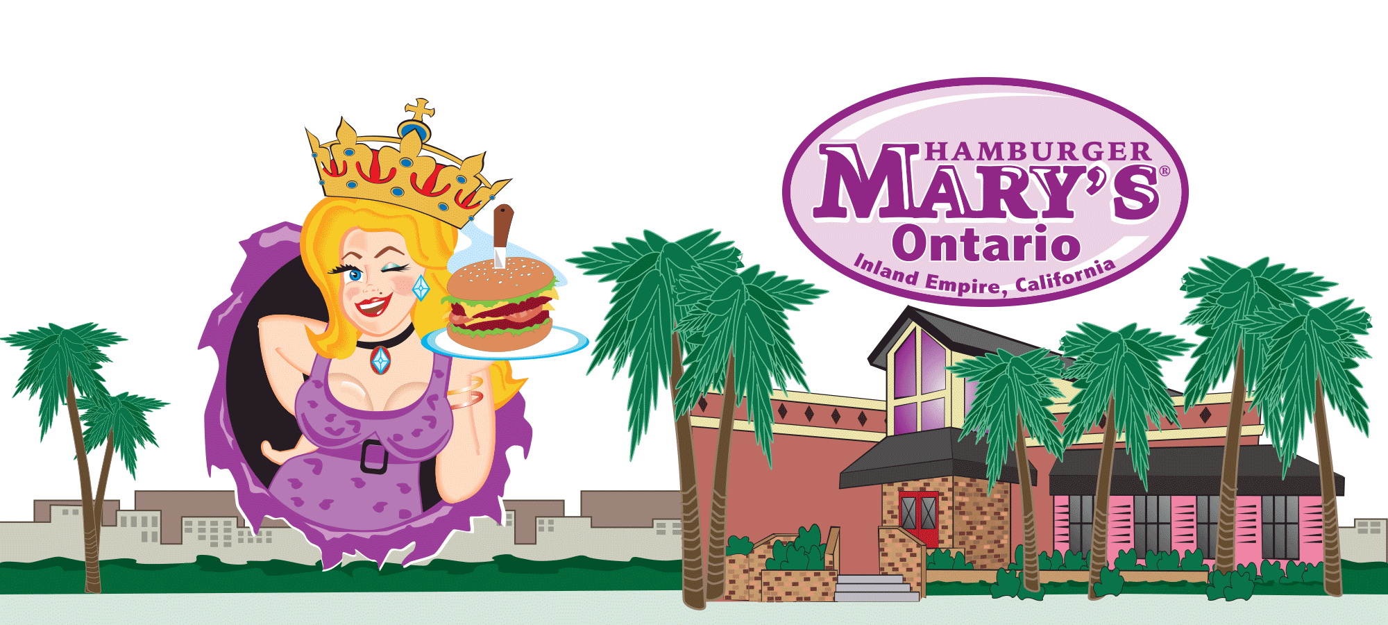 Hamburger Marys Ontario California Skyline