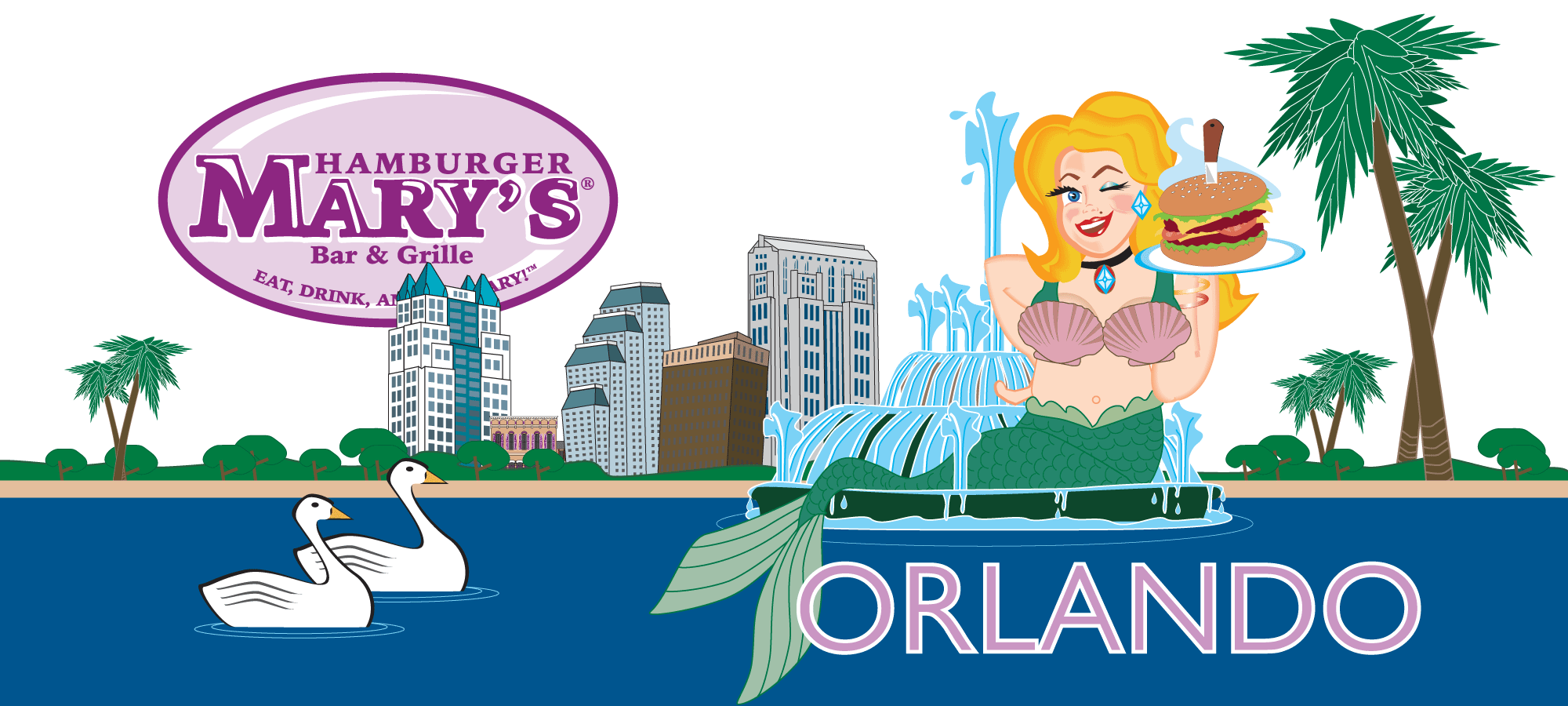 Hamburger Marys Orlando Skyline