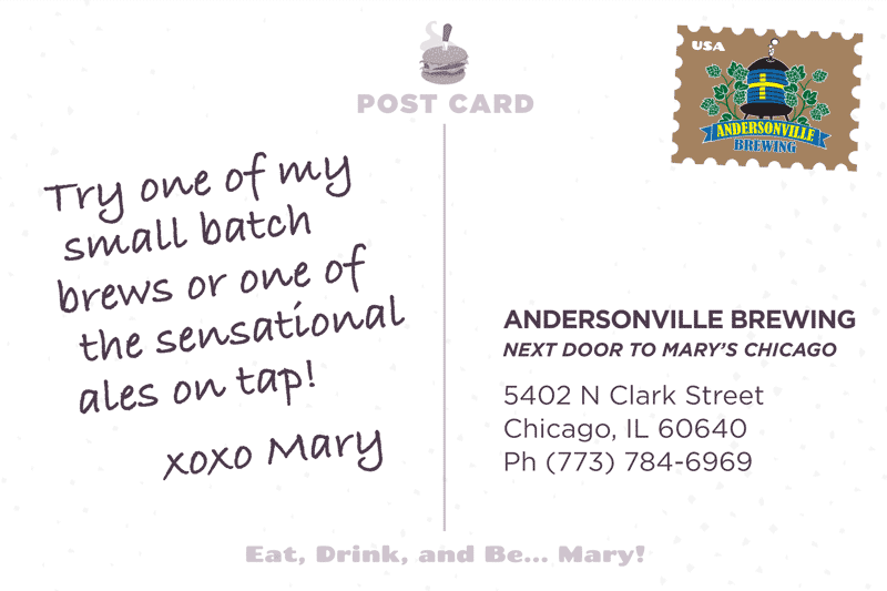 Andersonville Brewing Postcard Back