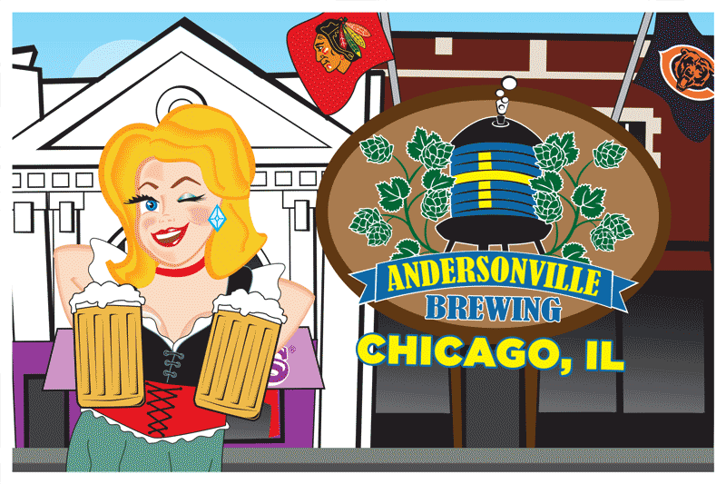 Andersonville Brewing Postcard Front