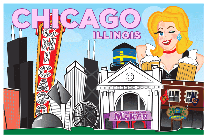 Chicago Postcard Front