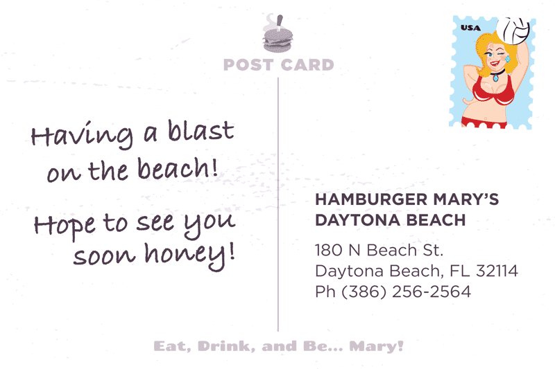 Daytona Postcard Back