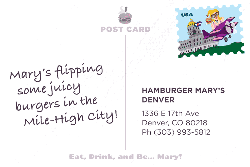 Denver Postcard Back