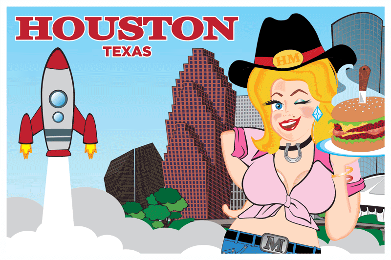 Houston Postcard Front