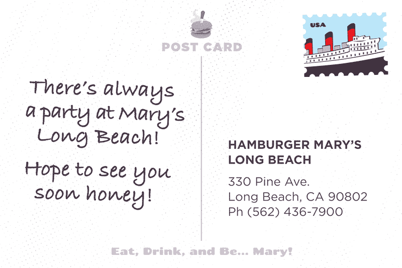 Long Beach Postcard Back