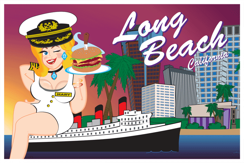 Long Beach Postcard Front