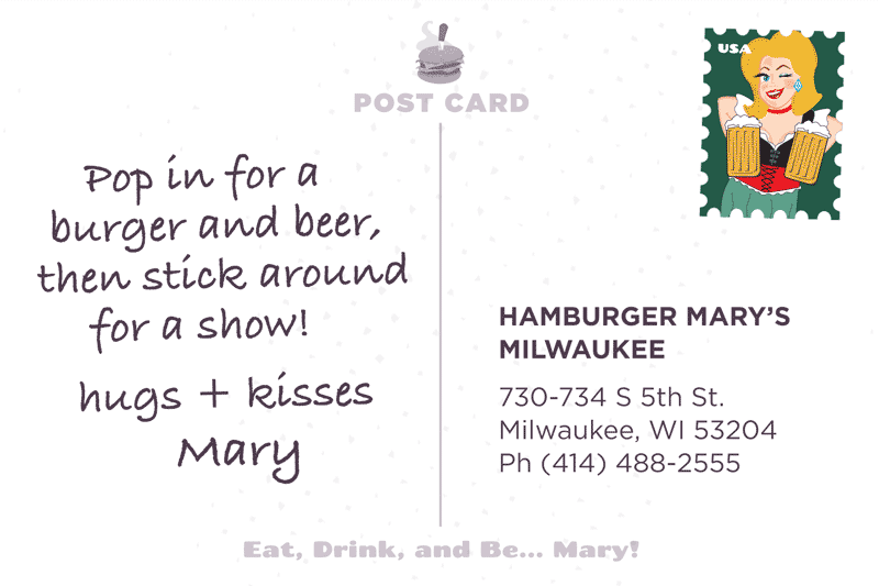 Milwaukee Postcard Back