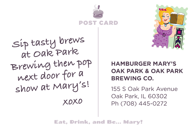 Oak Park Postcard Back