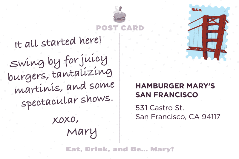 San Francisco Postcard Back