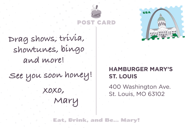 St Louis Postcard Back