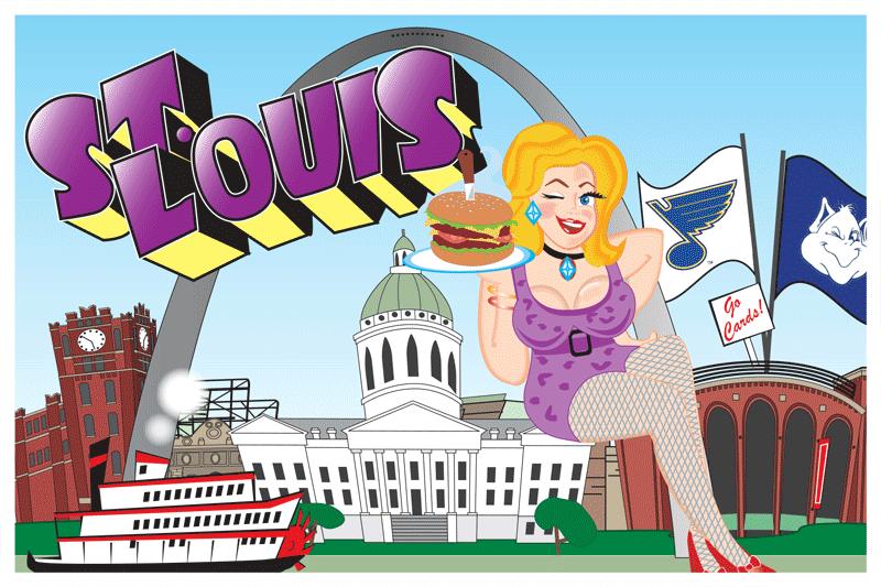 St Louis Postcard Front