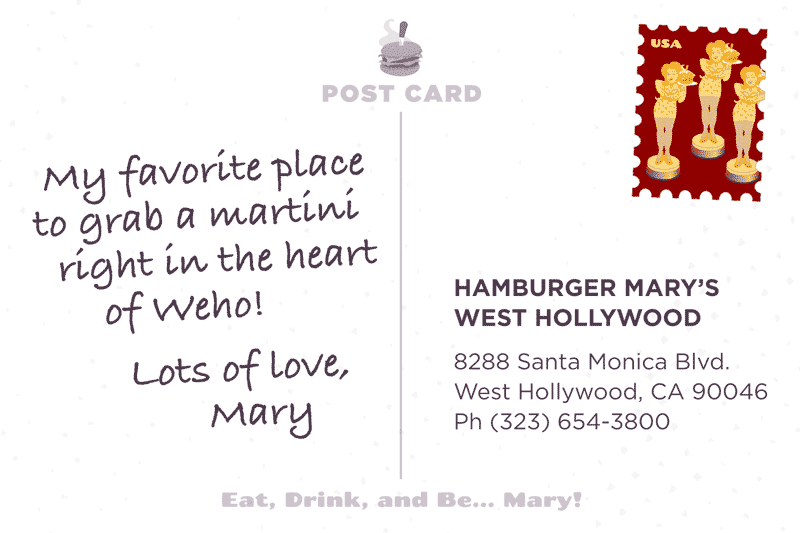 West Hollywood Postcard Back